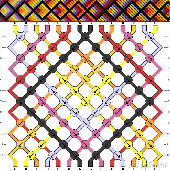 Схема фенечки 7730