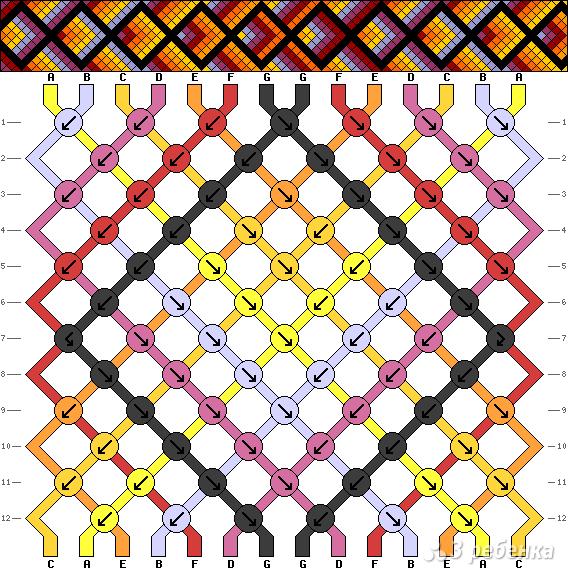 Схема фенечки 7742