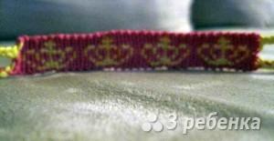 Схема фенечки прямым плетением 7325