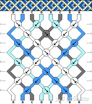 Схема фенечки 7791