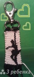 Схема фенечки прямым плетением 7119