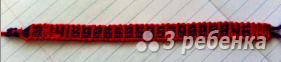 Схема фенечки прямым плетением 7400