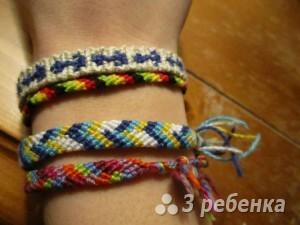 Схема фенечки прямым плетением 7519