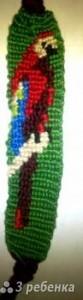 Схема фенечки прямым плетением 7494