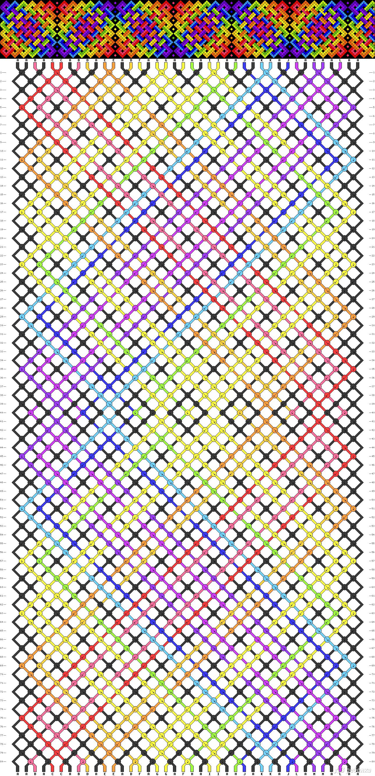 Подробная схема фенечки