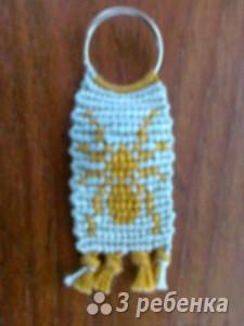 Схема фенечки прямым плетением 7251