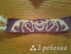 Схема фенечки прямым плетением 7548
