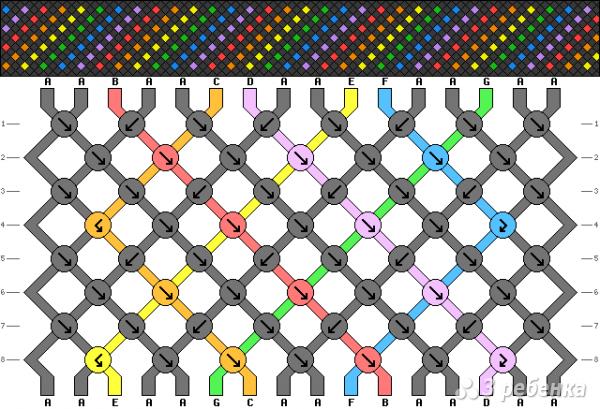 Схема фенечки 7617