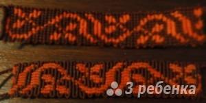 Схема фенечки прямым плетением 7301