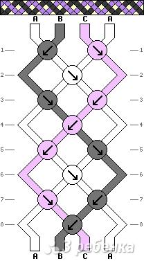 Схема фенечки 7830