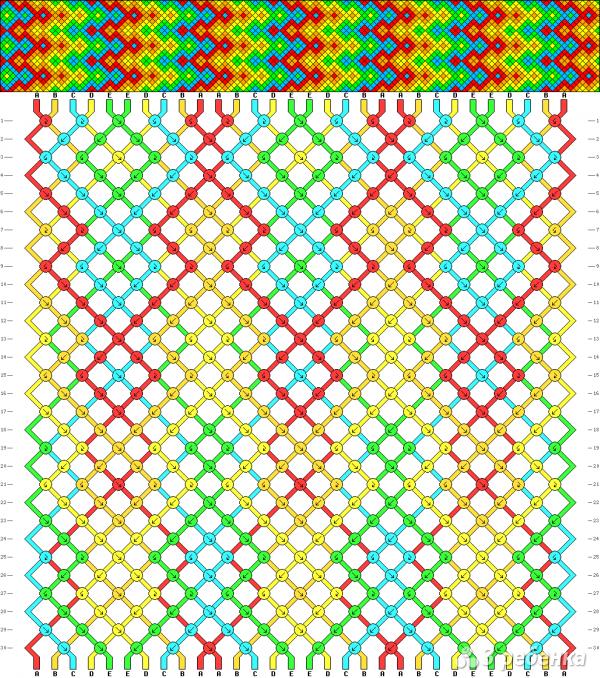 Схема фенечки 7592