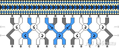 Схема фенечки 7724