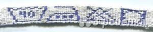 Схема фенечки прямым плетением 7195