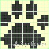 Схема фенечки прямым плетением 7310