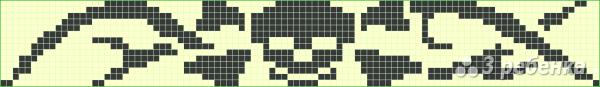 Схема фенечки прямым плетением 7412