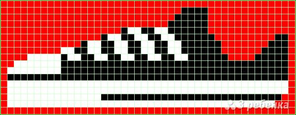 Схема фенечки прямым плетением 7219