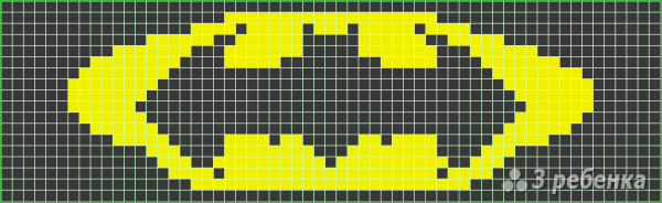 Схема фенечки прямым плетением 7102
