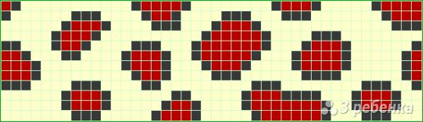 Схема фенечки прямым плетением 7437
