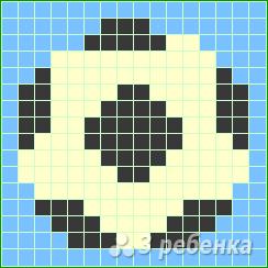 Схема фенечки прямым плетением 7296