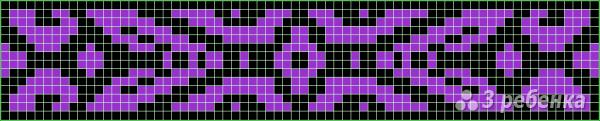 Схема фенечки прямым плетением 7391