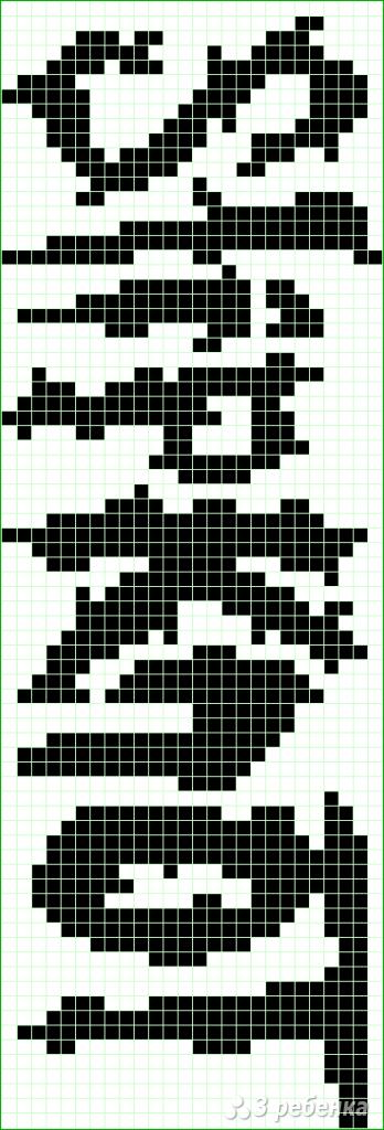 Схема фенечки прямым плетением 7510
