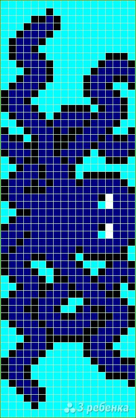 Схема фенечки прямым плетением 7535