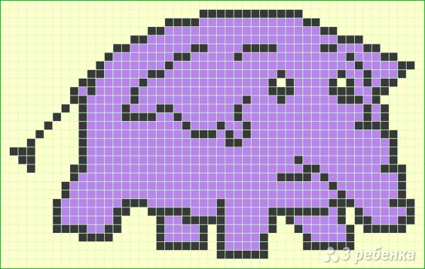 Схема фенечки прямым плетением 7236
