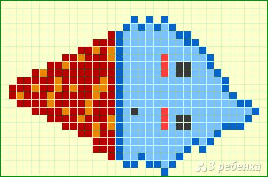 Схема фенечки прямым плетением 7460