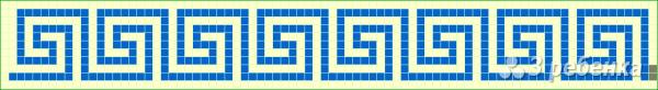 Схема фенечки прямым плетением 7147