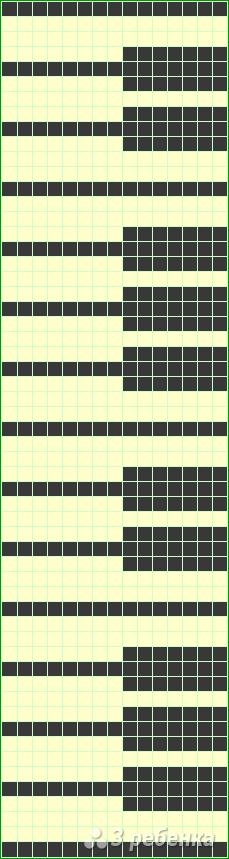 Схема фенечки прямым плетением 7167