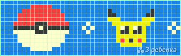 Схема фенечки прямым плетением 7242