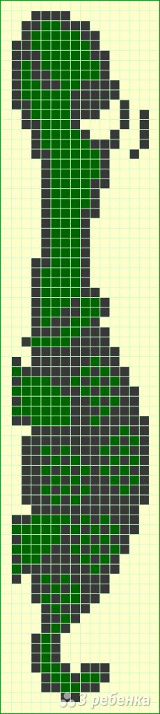Схема фенечки прямым плетением 7430