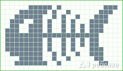 Схема фенечки прямым плетением 7319
