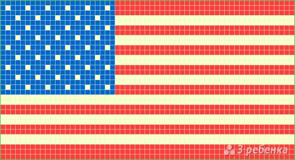 Схема фенечки прямым плетением 7274