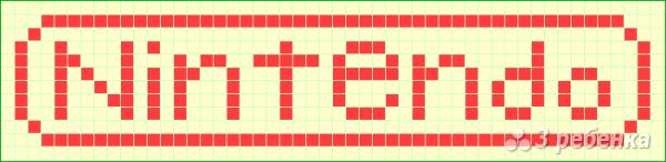 Схема фенечки прямым плетением 7453