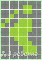 Схема фенечки прямым плетением 7362