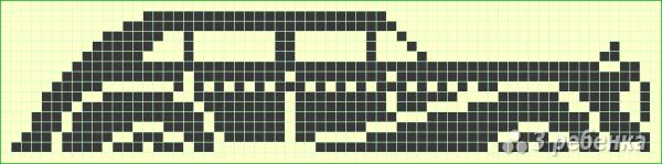 Схема фенечки прямым плетением 7339
