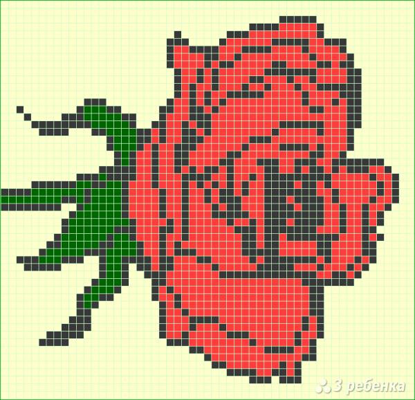 Схема фенечки прямым плетением 7142