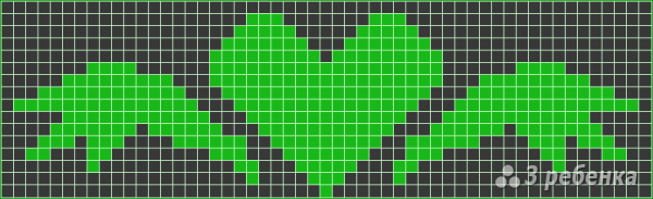 Схема фенечки прямым плетением 7540