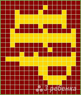 Схема фенечки прямым плетением 7373