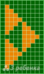 Схема фенечки прямым плетением 7258