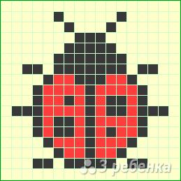 Схема фенечки прямым плетением 7560