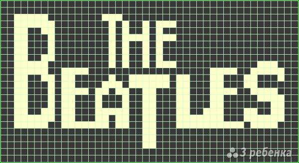 Схема фенечки прямым плетением 7355