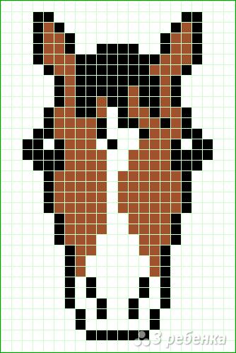 Схема фенечки прямым плетением 7173