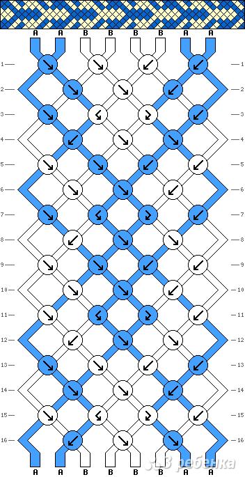 Схема фенечки 8316