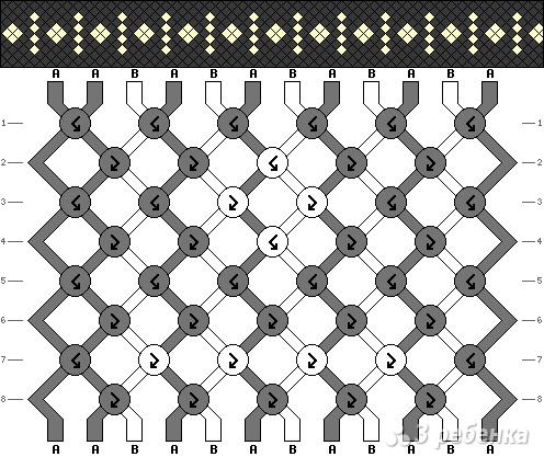 Схема фенечки 8173