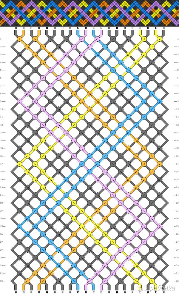 Схема фенечки 8073