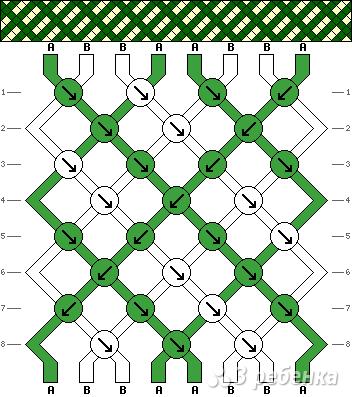 Схема фенечки 8408