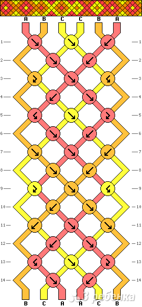 Схема фенечки 8623