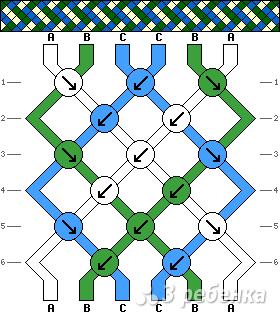 Схема фенечки 8310